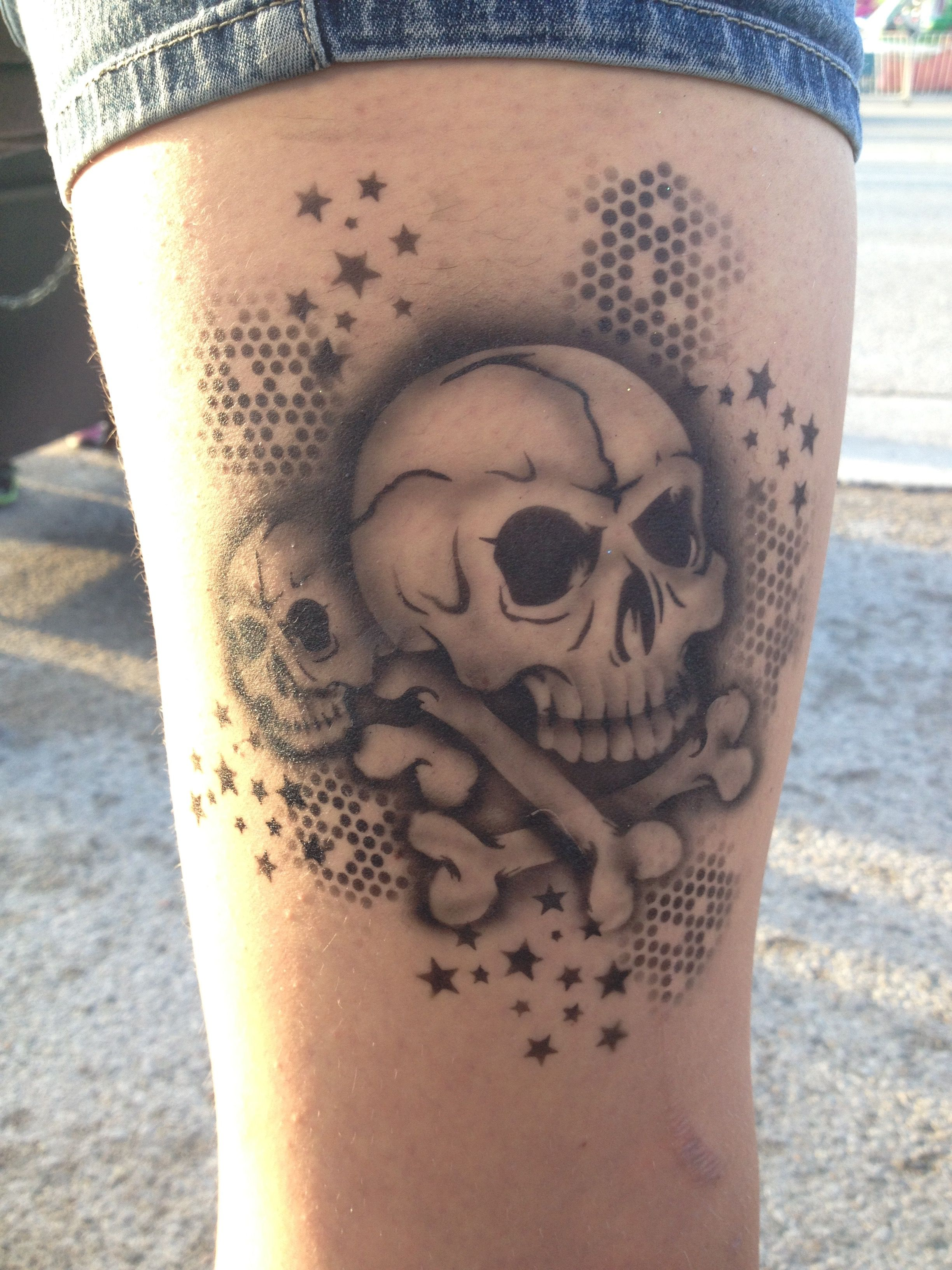 Airbrush Tattoo By Laura Newskinbodyart Using Tattoo Pro Ideas And Designs