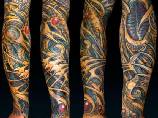 Aaron Cain S Unique Brand Of Stylized Biomech Wild Ink Ideas And Designs