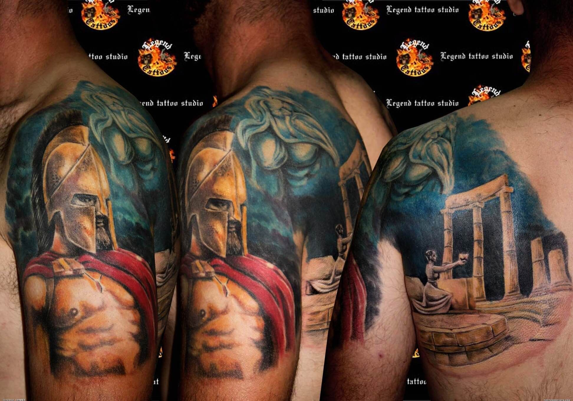 300 Spartan Tattoo Designs And Ideas On Shoulder Arm 300 Ideas And Designs