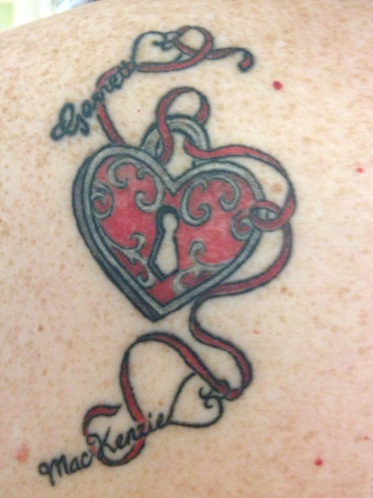 Heart Tattoo Designs With Kids Names Tattoos Pinterest Ideas And Designs