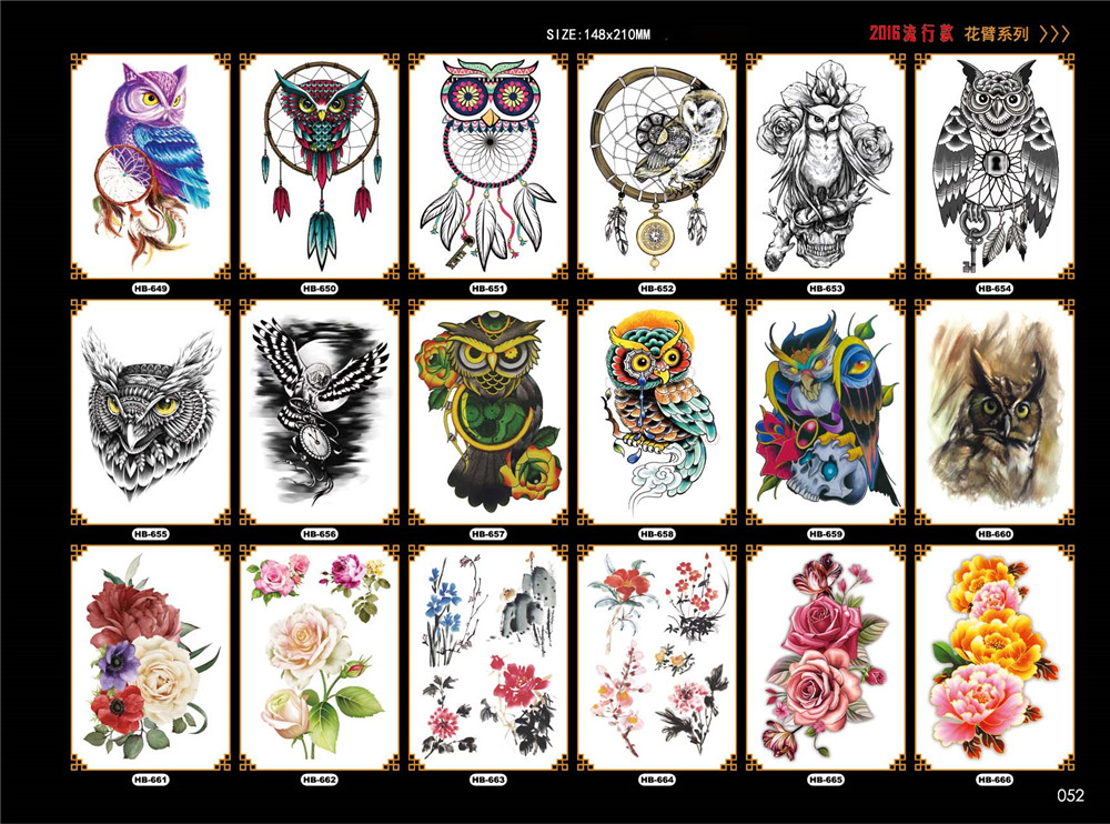 Large Temporary Tattoos Body Art 3D Big Transfer Paper Ideas And Designs