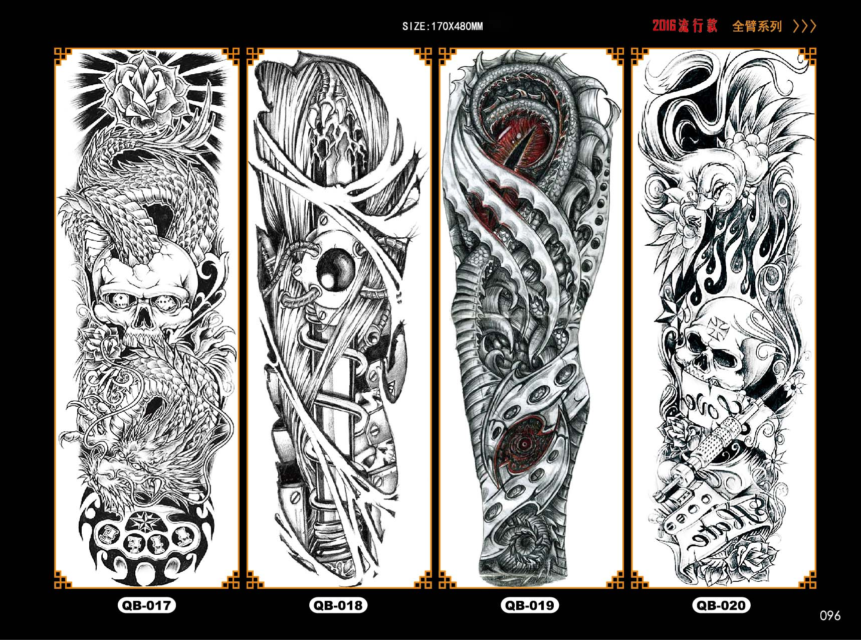 Extra Large Temporary Tattoos Long Full Arm Skull Flower Ideas And Designs