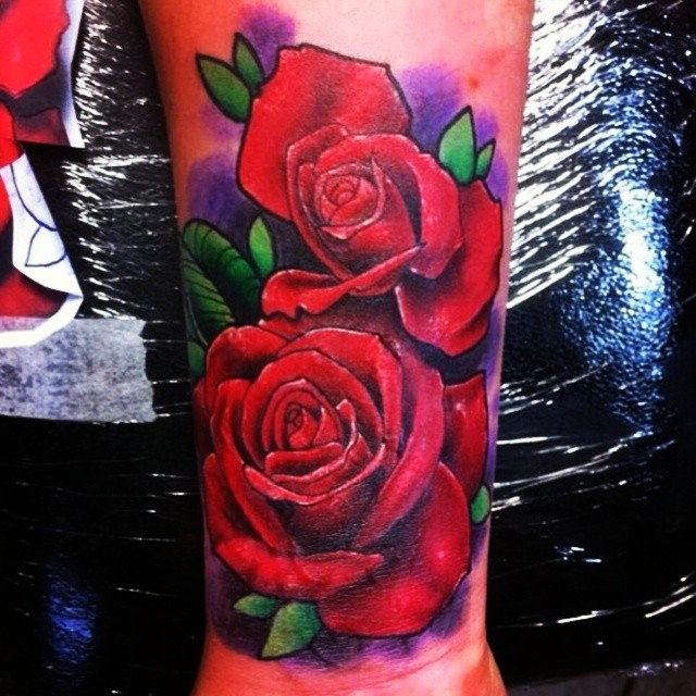 Colored Roses Tattoos Ideas And Designs