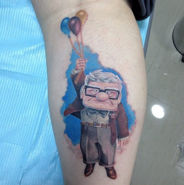 The Disney Adventure Never Ends More Amazing Up Tattoos Ideas And Designs