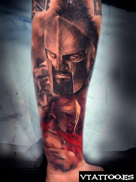 Leonidas Spartan Movie 300 Tattoo On Forearm Ideas And Designs