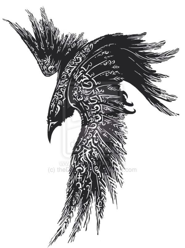35 Odin's Raven Tattoo Designs Images And Pictures Ideas And Designs