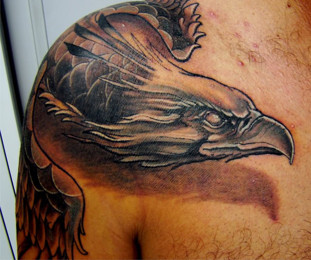 3D Phoenix Tattoo On Shoulder And Half Sleeve Ideas And Designs