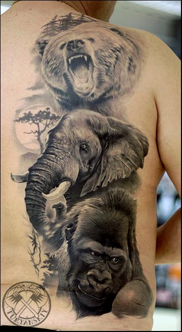 14 Incredible Wildlife Tattoo Images And Designs Ideas And Designs