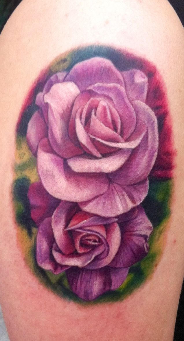 33 Awesome Purple Rose Tattoos Images Pictures And Ideas Ideas And Designs