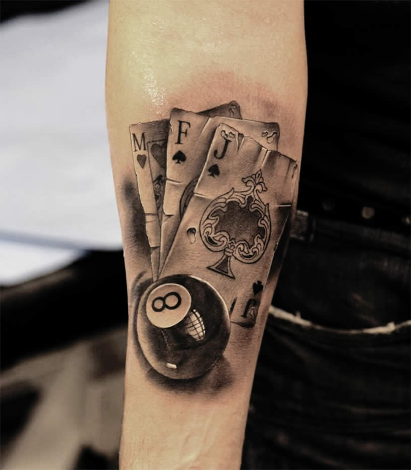 12 Latest Eight Ball Tattoo Designs And Ideas Ideas And Designs