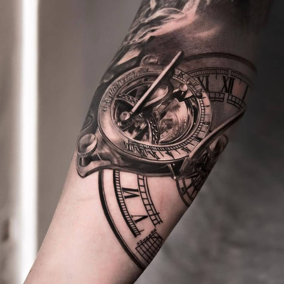10 Amazing Clock Tattoos On Forearm Ideas And Designs