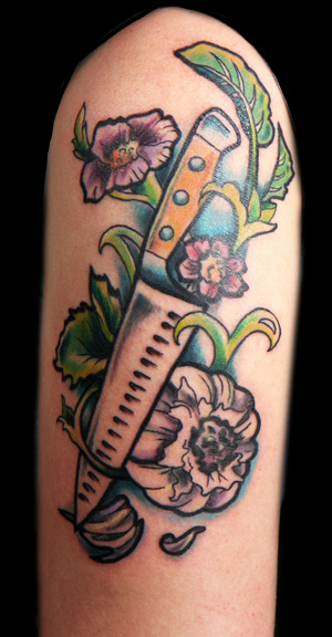 21 Awesome Chef Knife Tattoos Ideas And Designs