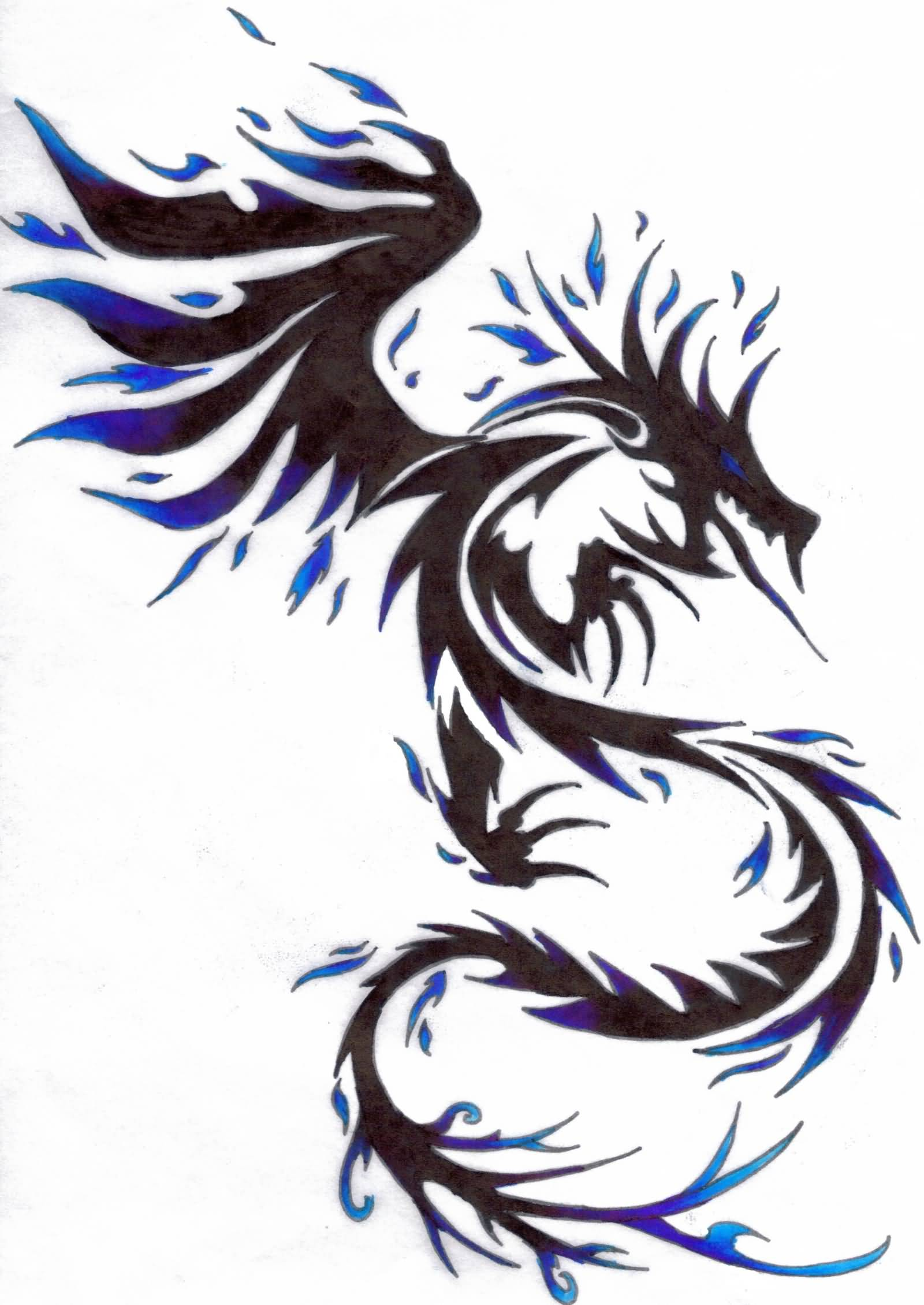 Cool Tribal Dragon Tattoo Design By Dragon Tribal Ideas And Designs
