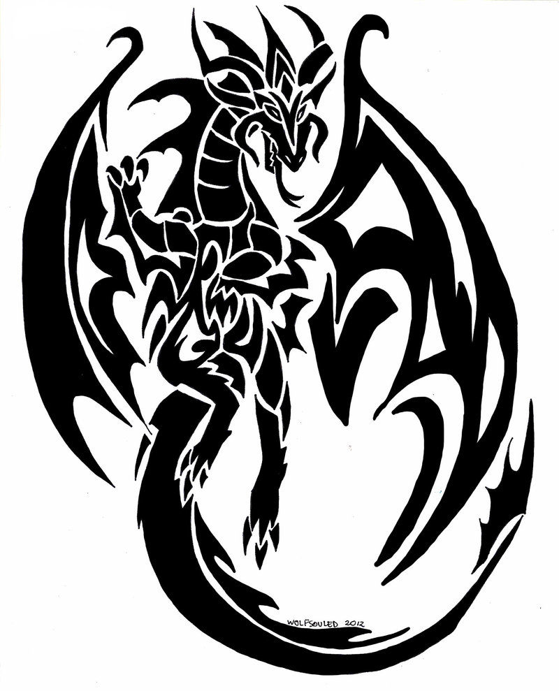52 Latest Tribal Dragon Tattoos Designs Ideas And Designs