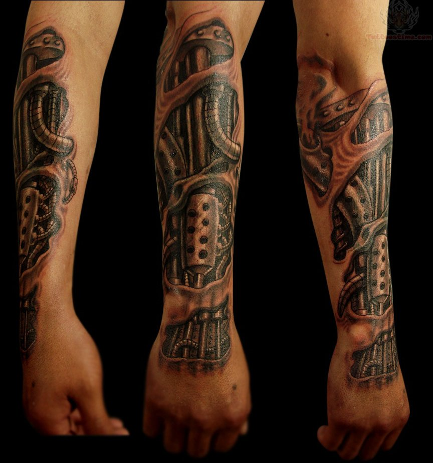 54 Mechanical Sleeve Tattoos Ideas And Designs