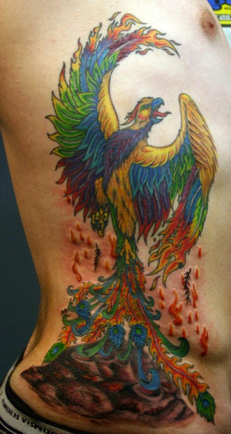 45 Rising Phoenix From The Ashes Tattoo Ideas And Designs