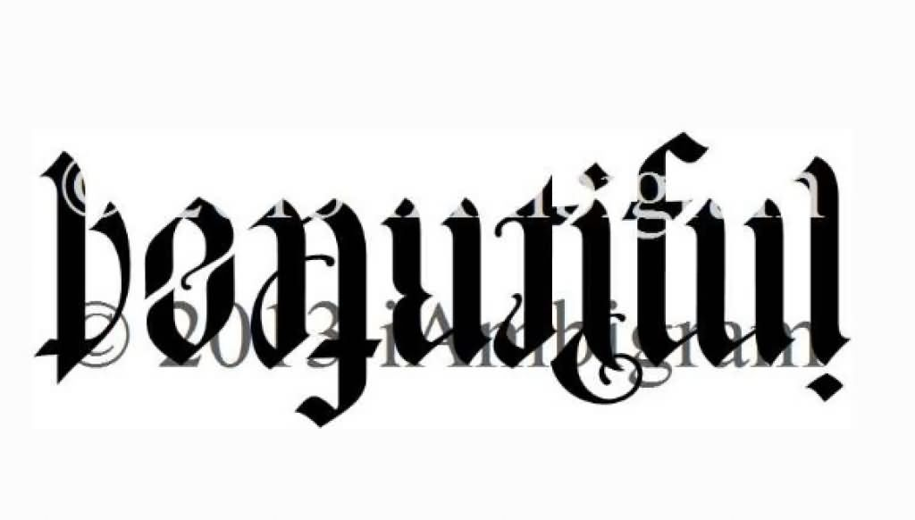37 Best Ambigram Tattoos Design And Ideas Ideas And Designs