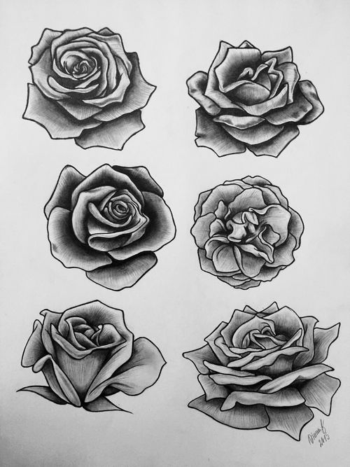 Grey And Black Roses Tattoos Designs Ideas And Designs