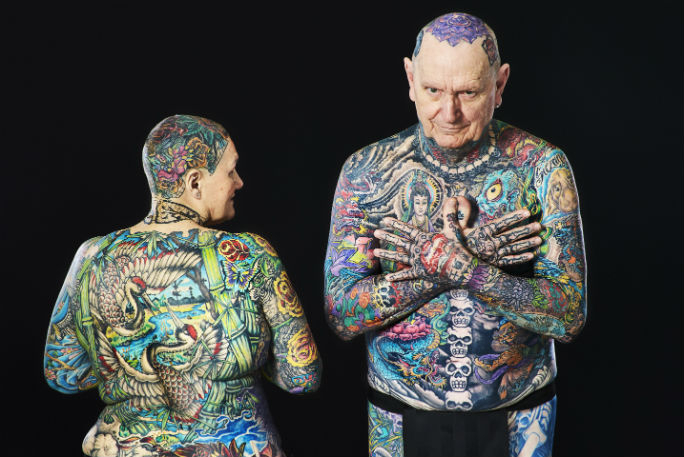 69 Year Old Becomes The Most Tattooed Woman Ever With 98 Ideas And Designs