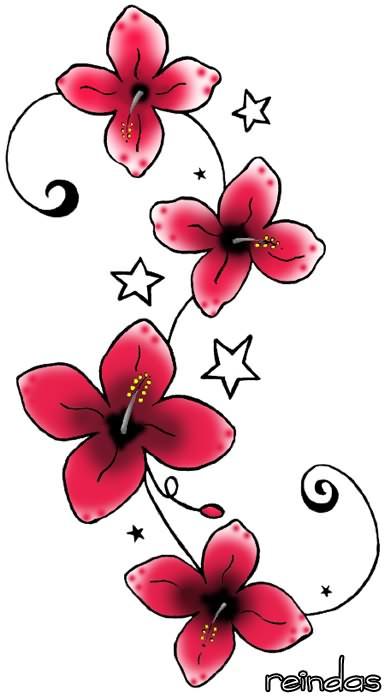 New Flowers Tattoo Designs