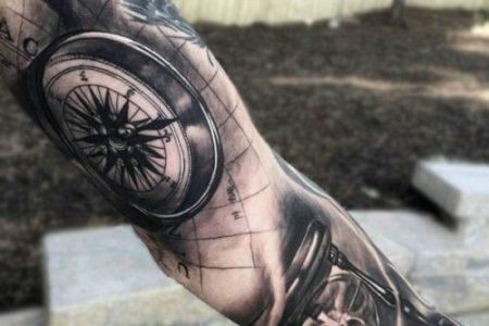 De 50 Tatuajes De Brjulas Que Te Van A Encantar Tattoos