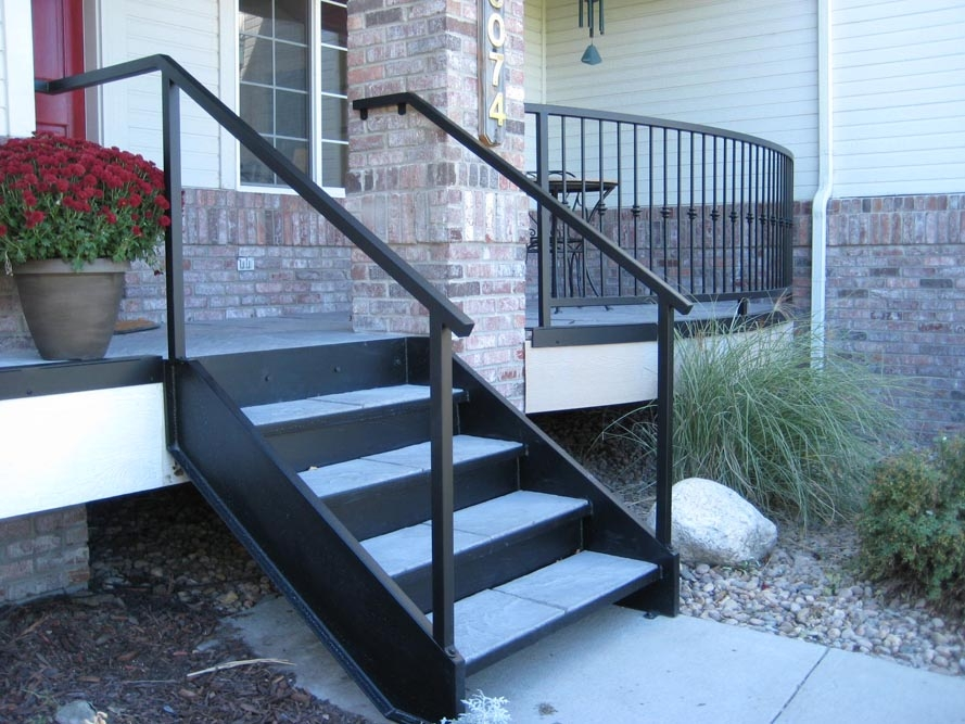 Taylored Iron Custom Iron Works Taylored For You Colorado Front | Outdoor Metal Stair Steps | Stair Railing | Stair Riser | Deck Stairs | Stair Stringer | Wrought Iron Railings
