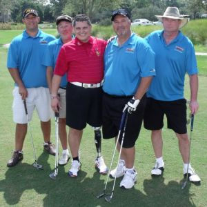 2012 Firehouse Sub foursome with Major Ed