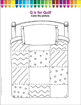 quilt coloring pages # 5