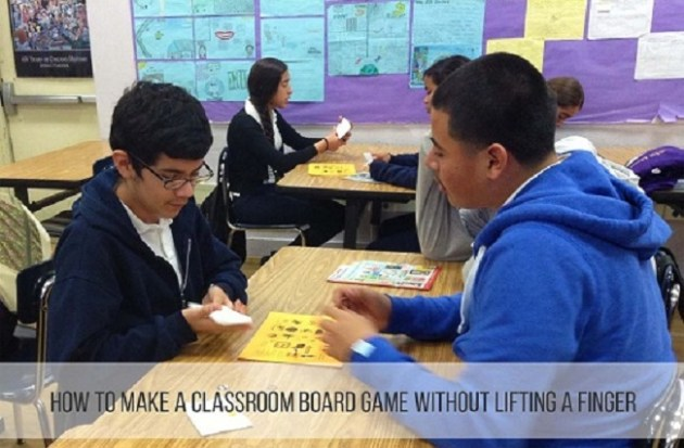 How To Make Classroom Board Games Without Lifting a Finger Kids playing educational board games in class