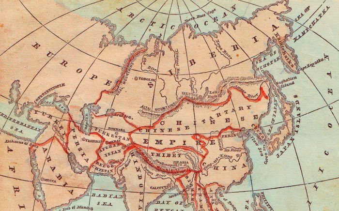 Staying on Track with a Course Map   The Teaching Center map of Asia  1867