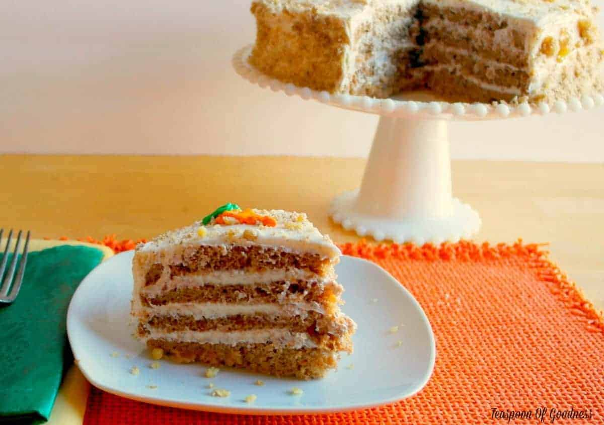 Moist Carrot Cake Recipe With Cream Cheese Icing