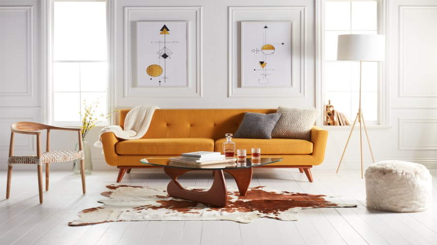 Walmart launches a new home shopping site for furniture and home     Mid century Living Room