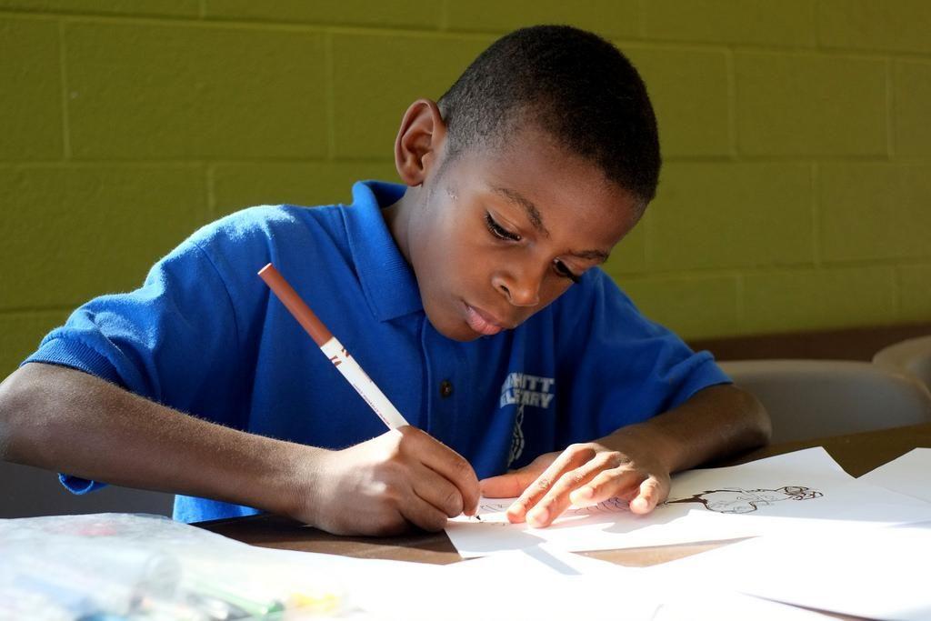 Chrildren School Doing Work