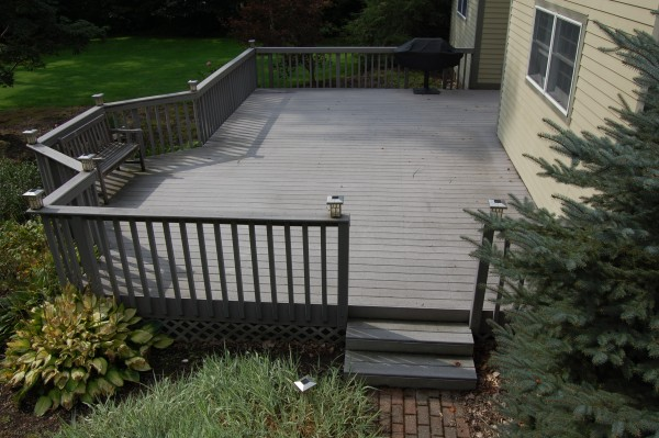Deck Colors For A Gray House Deck Design And Ideas