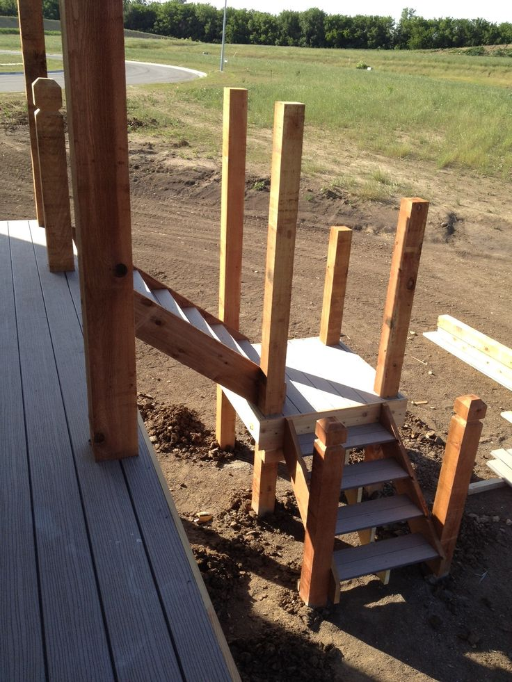Deck Stairs Landing Deck Design And Ideas