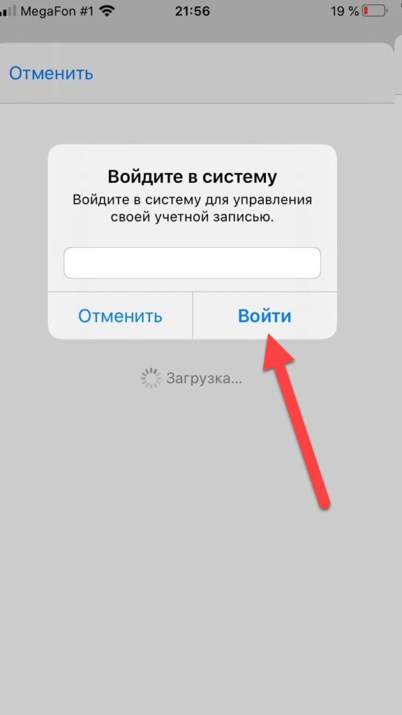 App Store login.