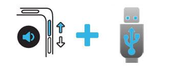 Augmentation du volume + connexion USB