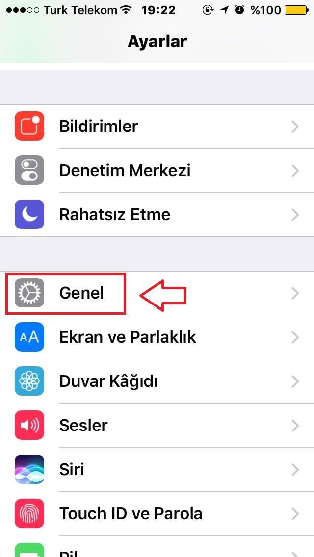iphone yazılım güncelleme denetleme