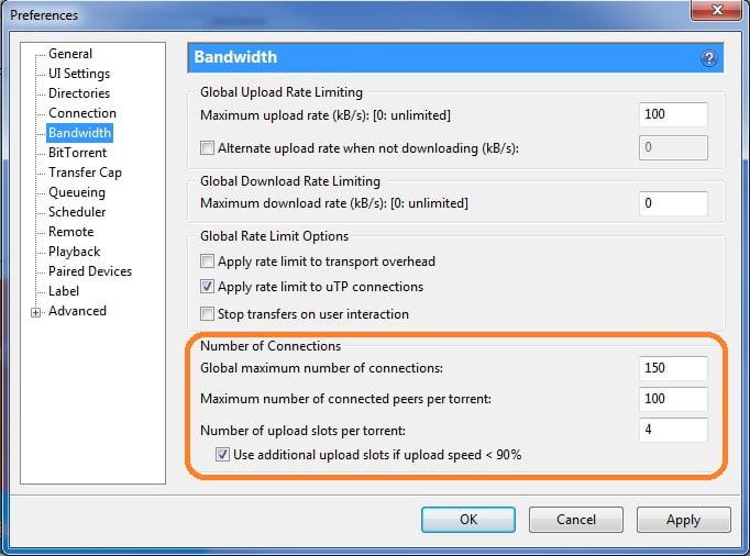 Maksimum hız için uTorrent ayarlayın. Maksimum hıza uTorrent nasıl ayarlanır
