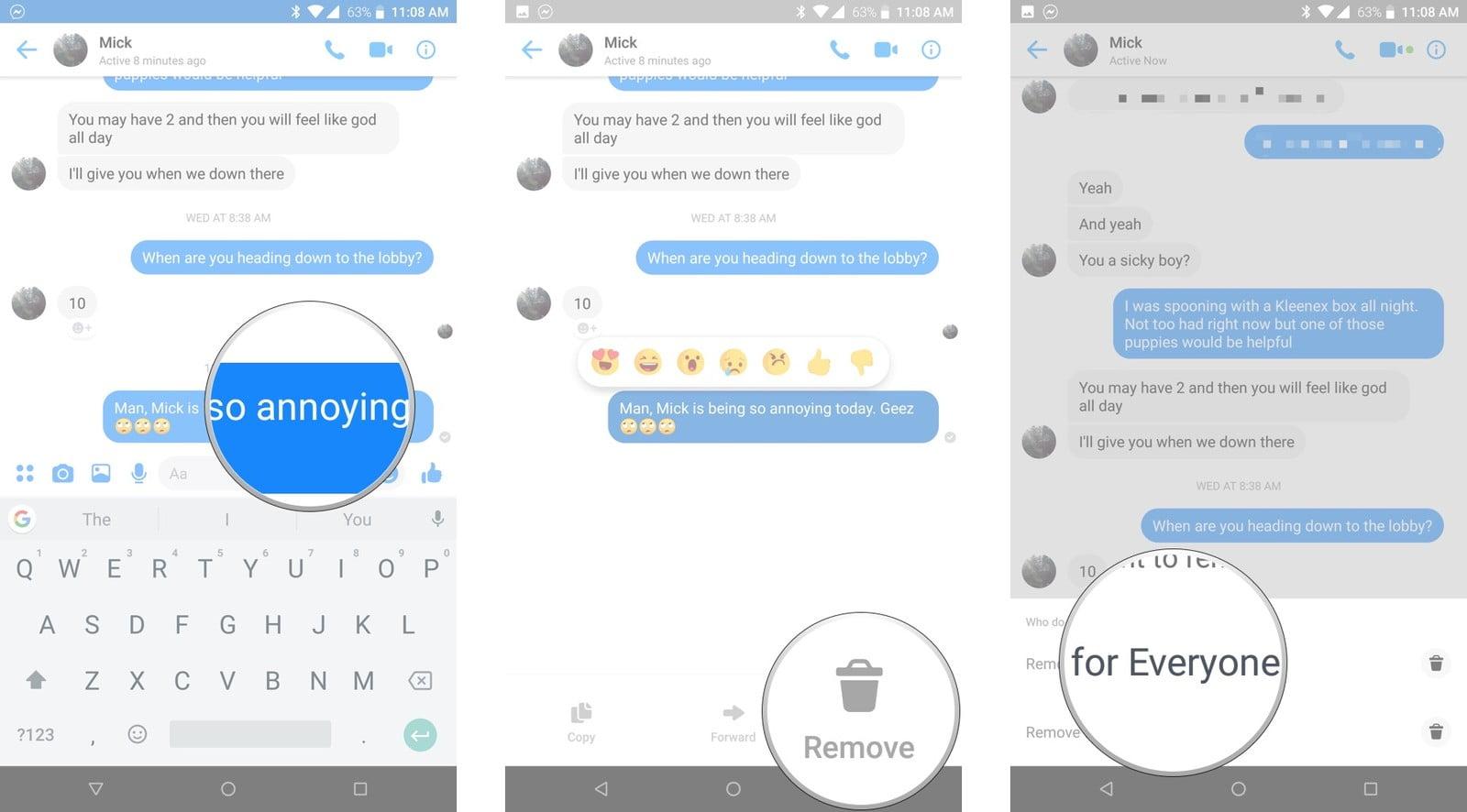 Facebook Messenger Da Yanlis Kisiye Veya Sohbete Gonderilen