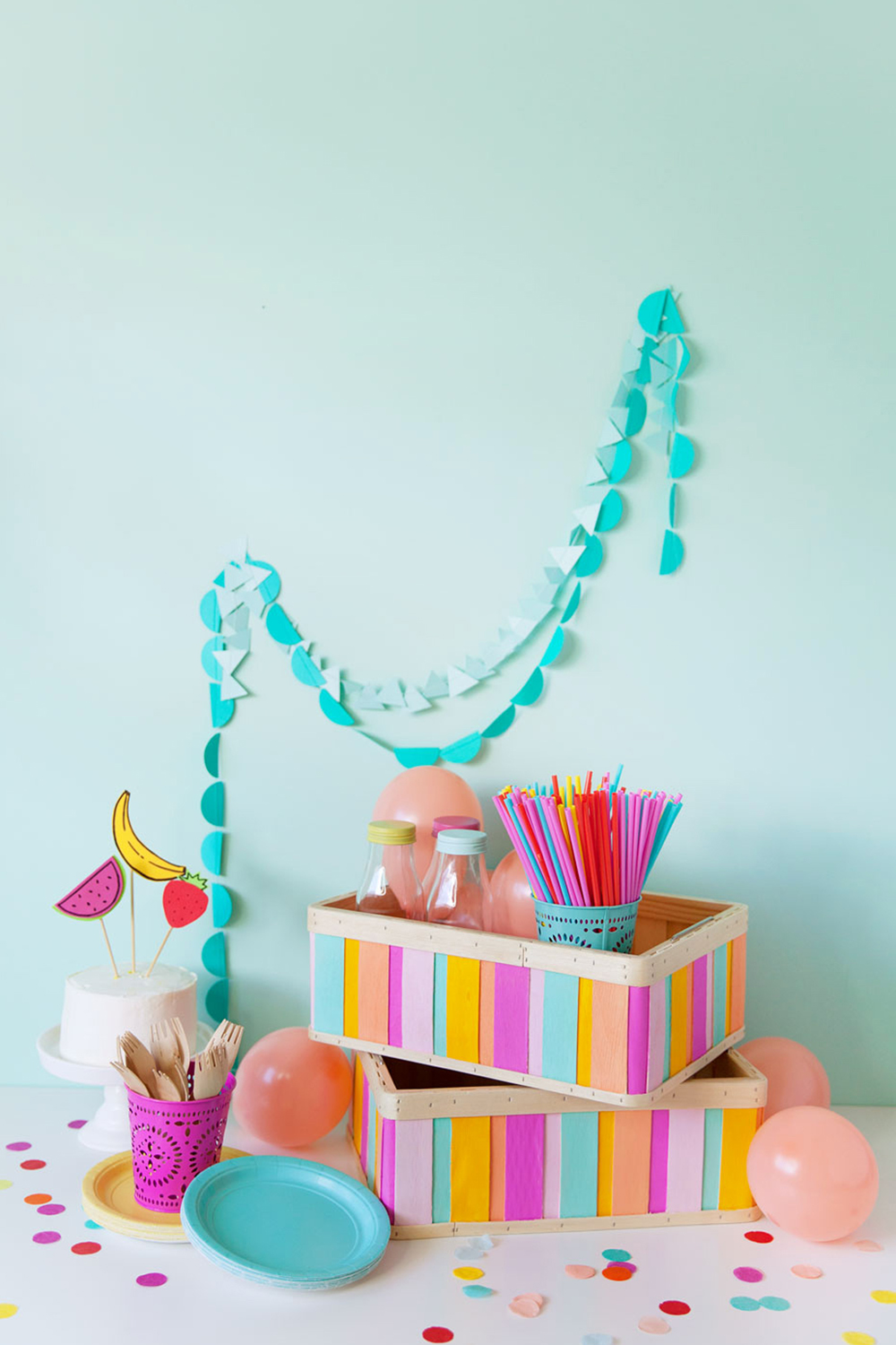 10 Minute Diy Painted Ikea Wood Boxes Tell Love And Party