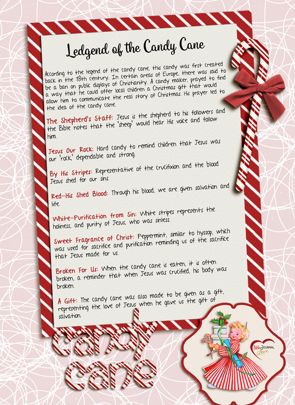 Free Printable: The Candy Cane Legend – Bible Journal Love