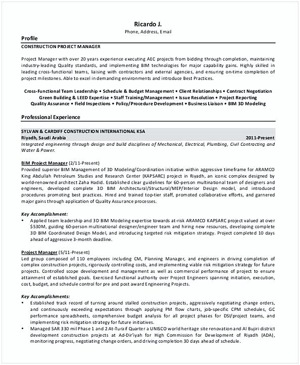 Manager Resume Objective Examples