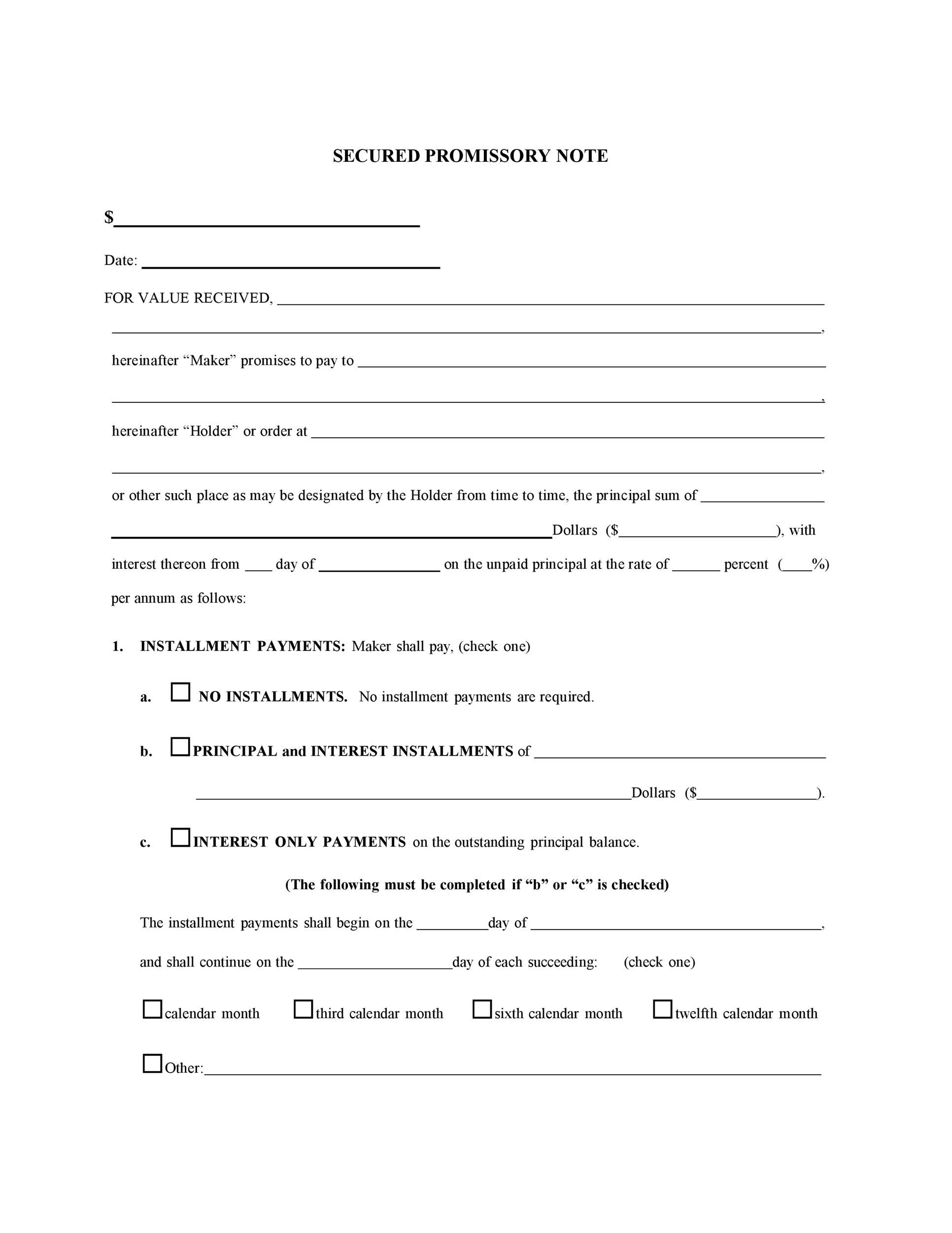 Promissory Note Form Quality Manual Template Free Download 35