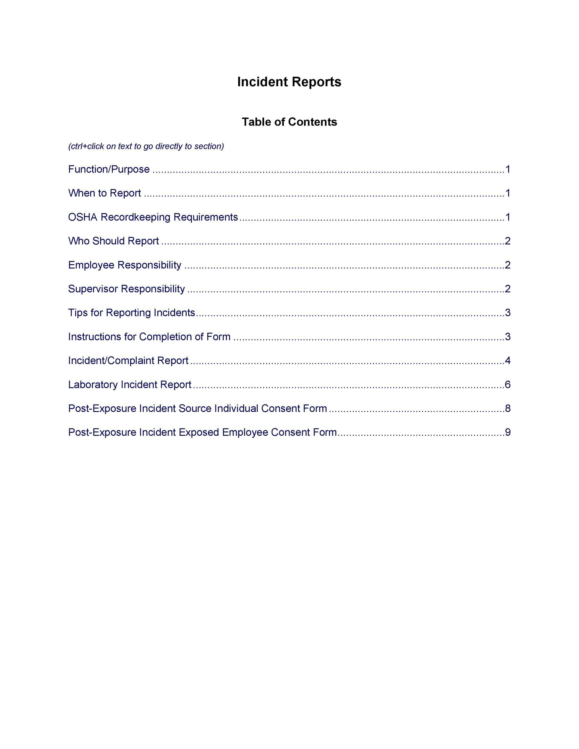 Crime Scene Report Sample