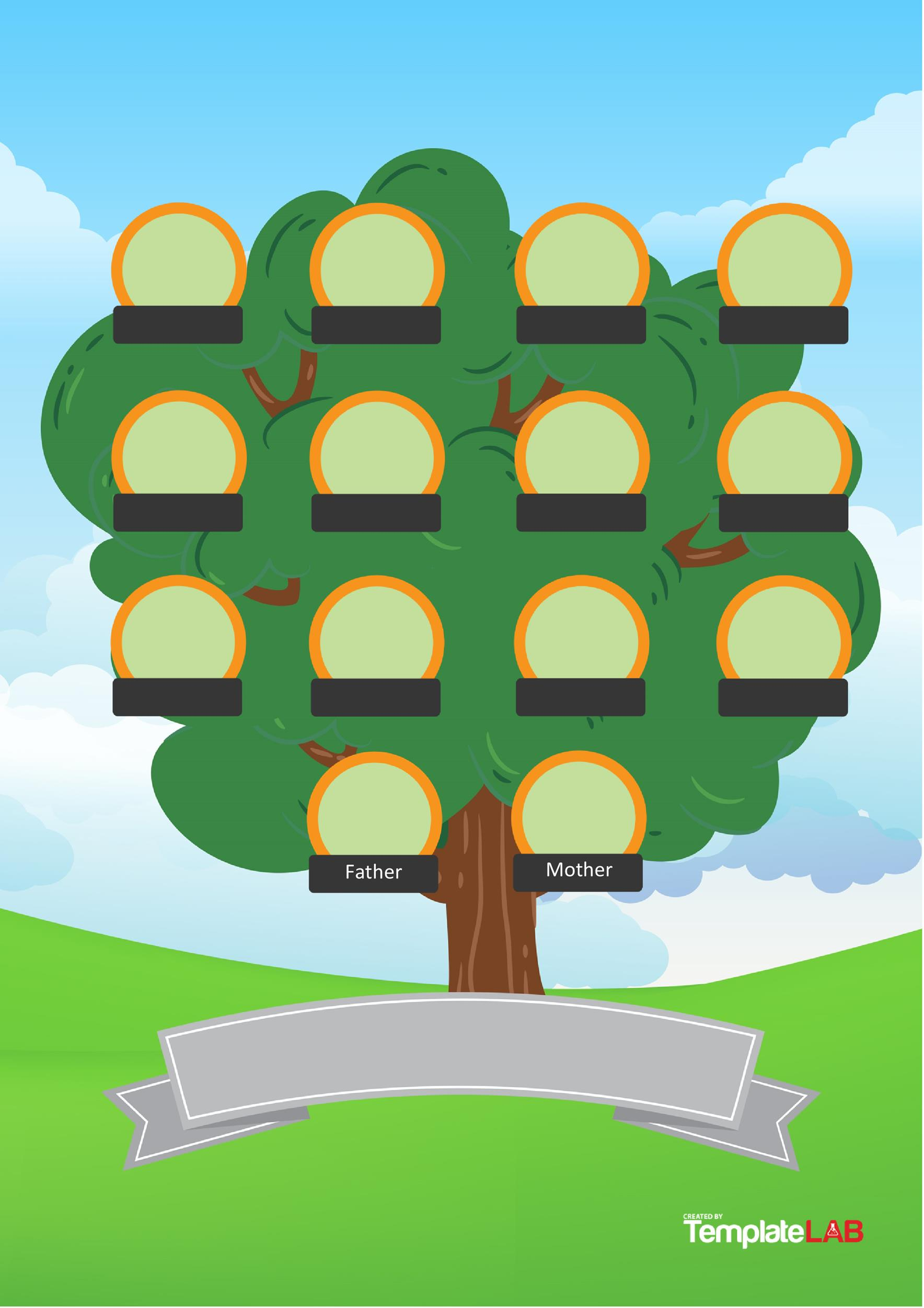 50  Free Family Tree Templates  Word  Excel  PDF    Template Lab Free Family Tree Template 10