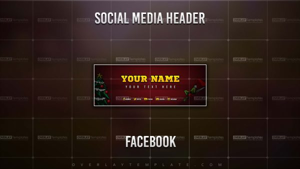 Banner,Preview,Facebook,Christmas Santa,overlaytemplate.com