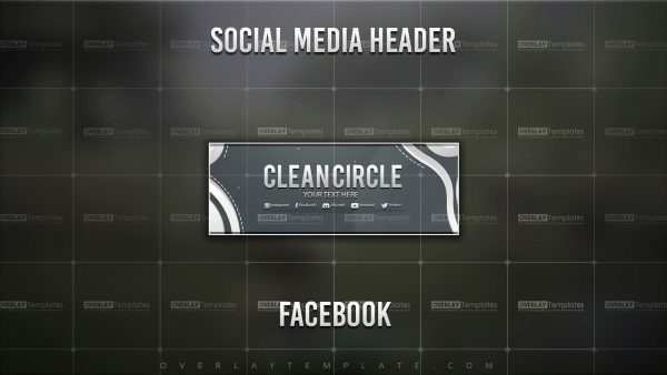 Banner,Preview,Facebook,Clean Circle,overlaytemplate.com