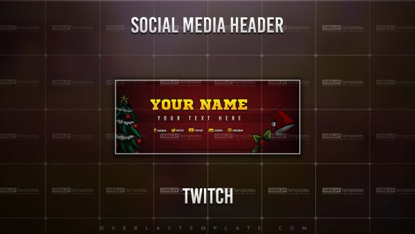 Banner,Preview,Twitch,Christmas Santa,overlaytemplate.com