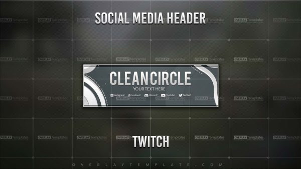 Banner,Preview,Twitch,Clean Circle,overlaytemplate.com